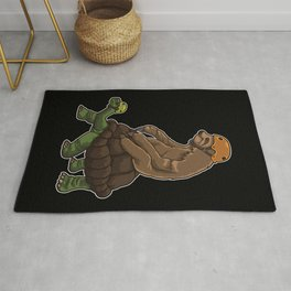 Sloth Rides A Turtle - Speed Is Overrated Rug