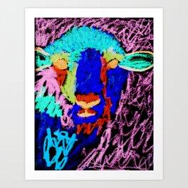 Blue Sheep Art Print