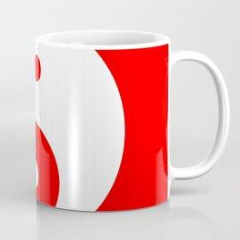 Yin & Yang (White & Red) Coffee Mug