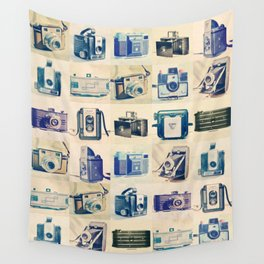 Vintage Camera Collection Wall Tapestry