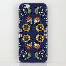 Flora Pattern I Dark iPhone & iPod Skin