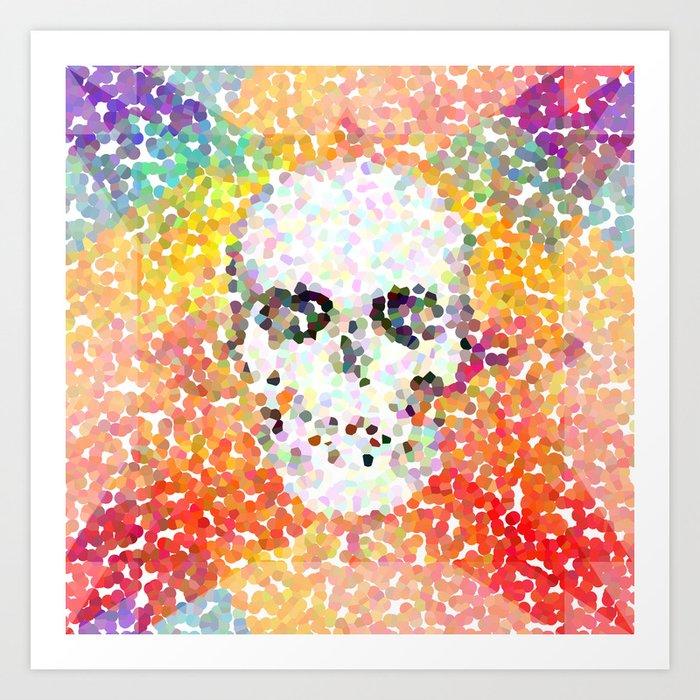 Pop Art Skull Painting