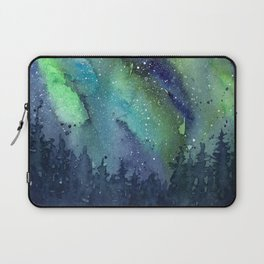 Galaxy Aurora Northern Lights Nebula Space Watercolor Laptop Sleeve