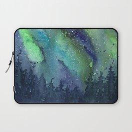 Galaxy Aurora Northern Lights Nebula Space Watercolor Laptop Sleeve