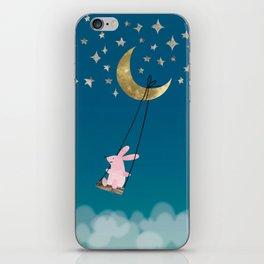 Swingin' with the Moon iPhone Skin