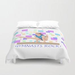 Gymnasts Rock! Duvet Cover