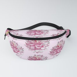 Dahlias on pink Fanny Pack