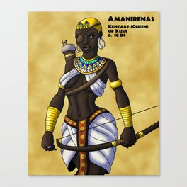Amanirenas the One-Eyed Queen of Kush Canvas Print