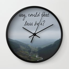 Say, could that lass be I? Wall Clock