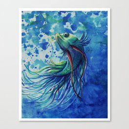 Whimsical Betta Fish Canvas Print
