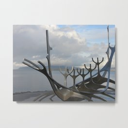 Sun Voyager in Reykajvik Iceland Metal Print