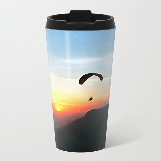 Sunset Paraglide Metal Travel Mug
