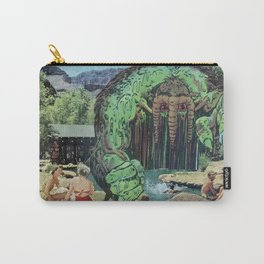 All Kids Out of the Pool - Vintage Collage Carry-All Pouch