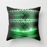 matrix Throw Pillows featuring Matrix tower by Azimut