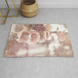 by the garden wall Rug