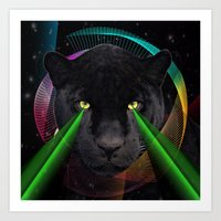 panther Art Prints featuring Panther by mark ashkenazi