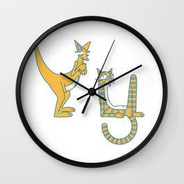 Y Uppercase/Lowercase Pair, no border Wall Clock