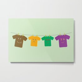Hanging Tee Family Metal Print