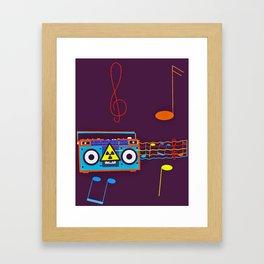 Radio Active musical waves Framed Art Print