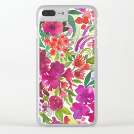 Tropical Flora Clear iPhone Case