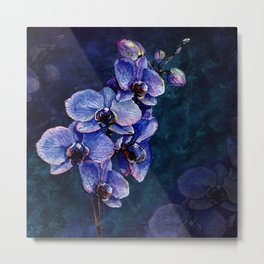 Orchids of the night Metal Print