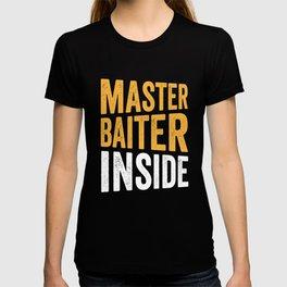 Fishing master baiter inside T-shirt