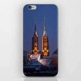 Wrocław Cathedral @night iPhone Skin