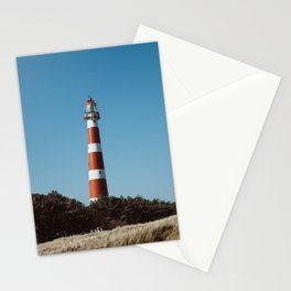 Lighthouse Peeking Out - Ameland The Netherland photo | Nature urban pastel color minimal outdoor photography art print Stationery Cards