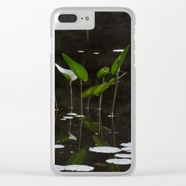 Pickerel Weeds and Lily Pads Clear iPhone Case