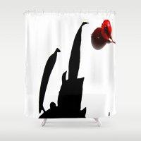shadow Shower Curtains featuring shadow by Baptiste Riethmann