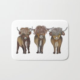 Scottish Highland cattle Bath Mat