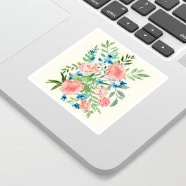 Watercolor Peonies Sticker