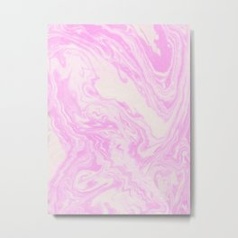 Akiko - spilled ink art print monoprint handmade japanese paper marble paper texture pattern map Metal Print