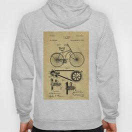 Bicyole Support Patent Drawing From 1890 Hoody