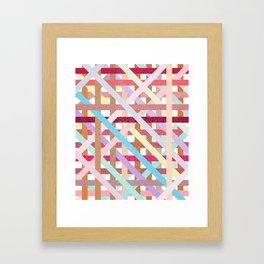 Structural Weaving Lines Framed Art Print