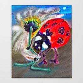 Ladybug&flower Canvas Print