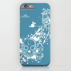 Turq Skull n Finch iPhone 6s Slim Case