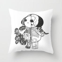 z.Xray II (Black and white) Throw Pillow