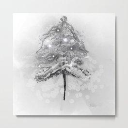 Silver Holiday Dreams Metal Print