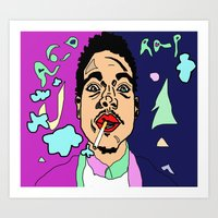 chance the rapper Art Prints featuring Chance The Rapper by BlvckBewty