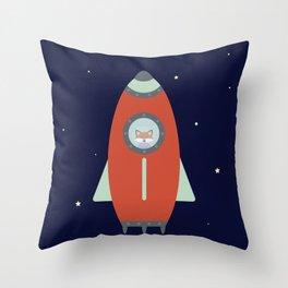 Fox Rocket Throw Pillow