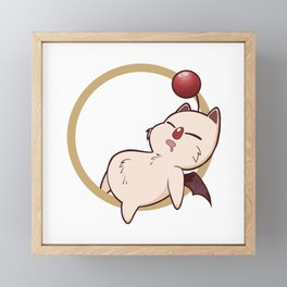 Sleepy Moogle Framed Mini Art Print