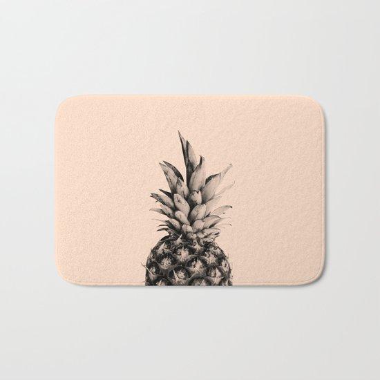 Pineapple on Pink Bath Mat