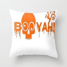 BOOYAH Funny Halloween Pumpkin Ghost Skull Tshirt Throw Pillow