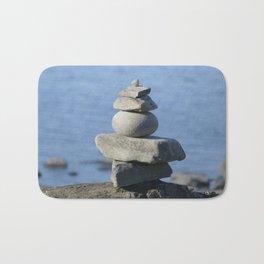 Stone on stone,  tranquility Bath Mat