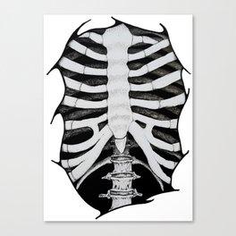 Skeleton Ribs Canvas Print