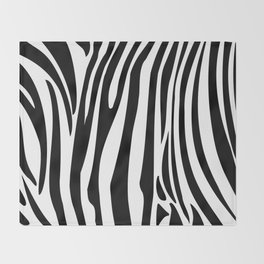 Zebra trendy design artwork animal exotic pattern Throw Blanket