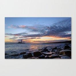 Sunrise at St Mary's Lighthouse Canvas Print