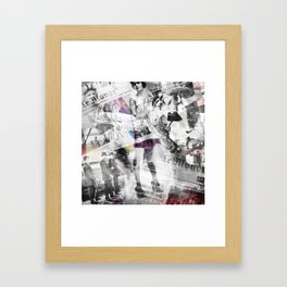 Newspaper collage Framed Art Print