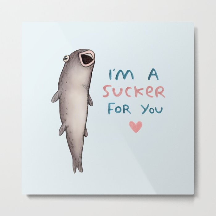 Suckerfish Metal Print